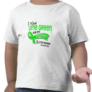 I Wear Lime Green 42 Mommy Lyme Disease Tee Shirt