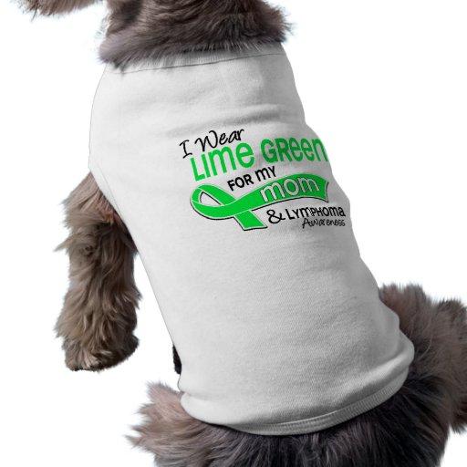 I Wear Lime Green 42 Mum Lymphoma Sleeveless Dog Shirt