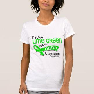 I Wear Lime Green 42 Nana Lyme Disease Tshirt