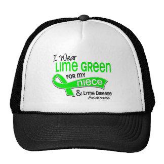 I Wear Lime Green 42 Niece Lyme Disease Trucker Hat