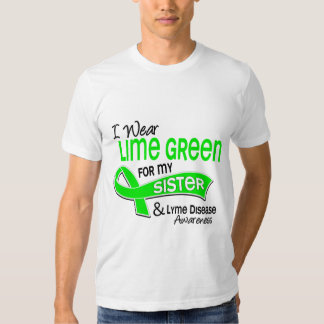 I Wear Lime Green 42 Sister Lyme Disease Shirts