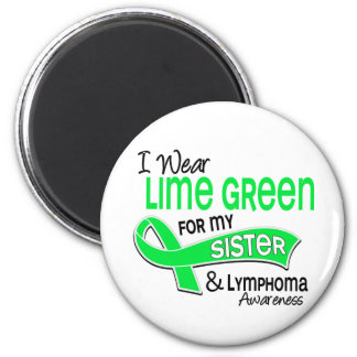 I Wear Lime Green 42 Sister Lymphoma 6 Cm Round Magnet