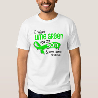 I Wear Lime Green 42 Son Lyme Disease Shirts