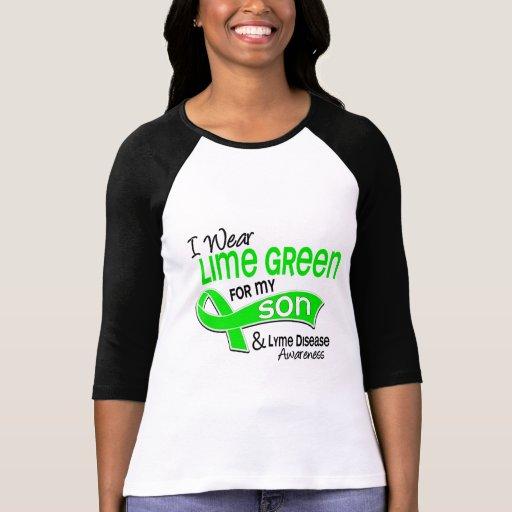 I Wear Lime Green 42 Son Lyme Disease Tee Shirts