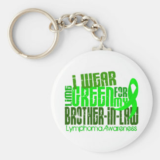 I Wear Lime Green For Brother-In-Law 6.4 Lymphoma Key Ring