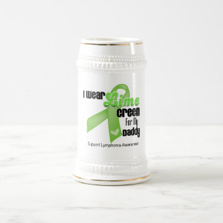 I Wear Lime Green For My Daddy - Lymphoma Coffee Mug