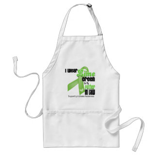 I Wear Lime Green For My Father in Law - Lymphoma Aprons