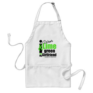 I Wear Lime Green For My Girlfriend Adult Apron