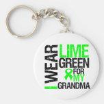 I Wear Lime Green For My Grandma Lymphoma Basic Round Button Key Ring