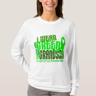 I Wear Lime Green For My Grandson 6.4 Lymphoma T-Shirt