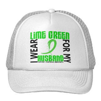 I Wear Lime Green For My Husband 46 Lymphoma Mesh Hats
