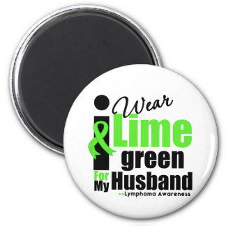I Wear Lime Green For My Husband 6 Cm Round Magnet