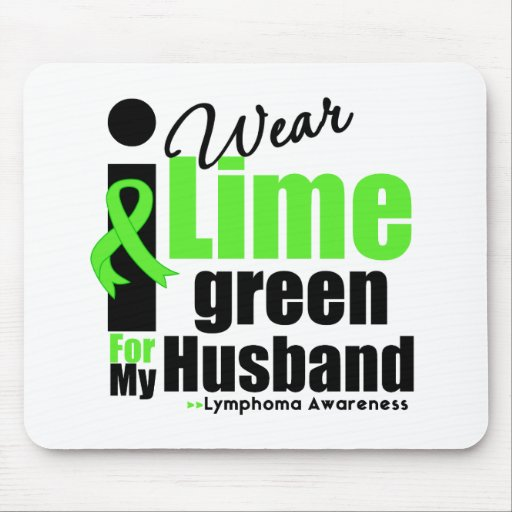 I Wear Lime Green For My Husband Mouse Mat