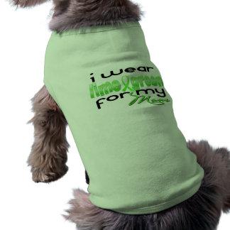I wear lime green for my Mom Sleeveless Dog Shirt