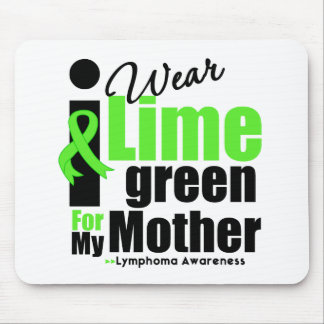 I Wear Lime Green For My Mother Mouse Mats