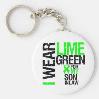 I Wear Lime Green For My Son-in-Law Lymphoma Basic Round Button Key Ring