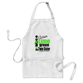 I Wear Lime Green For My Twin Sister Standard Apron