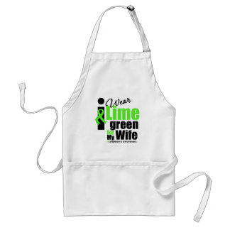 I Wear Lime Green For My Wife Adult Apron