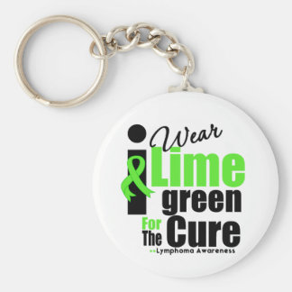I Wear Lime Green For The Cure Basic Round Button Key Ring