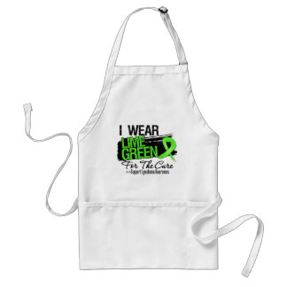 I Wear Lime Green For The Cure - Lymphoma Aprons