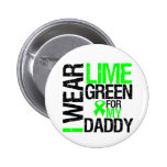 I Wear Lime Green Ribbon For My Daddy Lymphoma Pin
