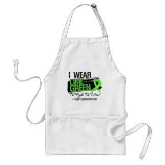 I Wear Lime Green To Fight To Win - Lymphoma Aprons
