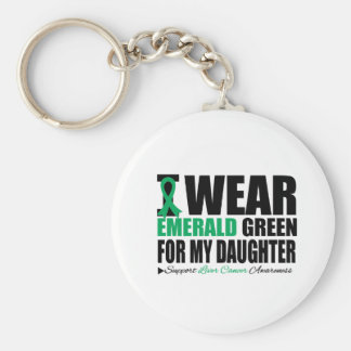 I Wear Liver Cancer Ribbon For My Daughter Keychains