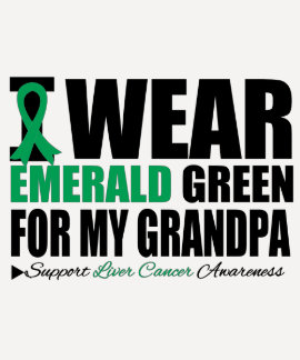 I Wear Liver Cancer Ribbon For My Grandpa Tee Shirt