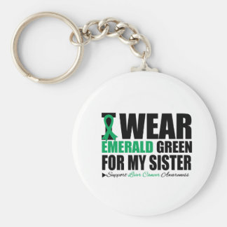 I Wear Liver Cancer Ribbon For My Sister Keychains