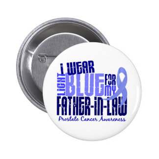I Wear Lt Blue Father-In-Law 6.4 Prostate Cancer 6 Cm Round Badge