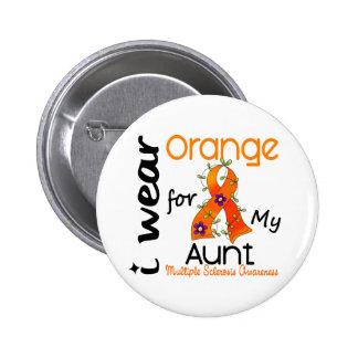 I Wear Orange 43 Aunt MS Multiple Sclerosis 6 Cm Round Badge