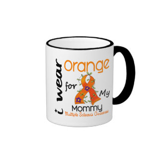 I Wear Orange 43 Mommy MS Multiple Sclerosis Ringer Mug