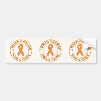 I Wear Orange For A Cure Car Bumper Sticker