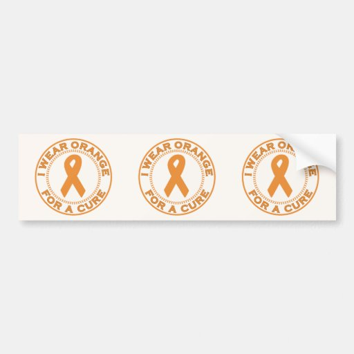 I Wear Orange For A Cure Bumper Sticker