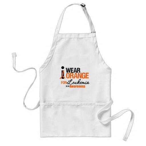 I Wear Orange For Leukemia Advocacy Apron