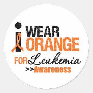 I Wear Orange For Leukemia Advocacy Sticker