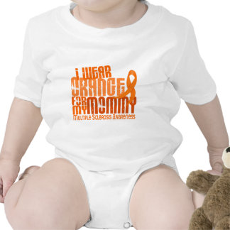 I Wear Orange For Mommy 6.4 MS Multiple Sclerosis Tee Shirts
