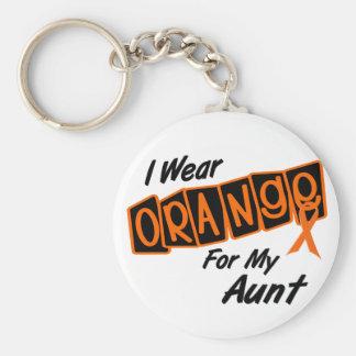 I Wear Orange For My AUNT 8 Key Chain