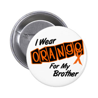 I Wear Orange For My BROTHER 8 6 Cm Round Badge