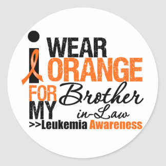 I Wear Orange For My Brother-in-Law Round Stickers
