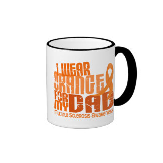 I Wear Orange For My Dad 6.4 Multiple Sclerosis MS Coffee Mugs