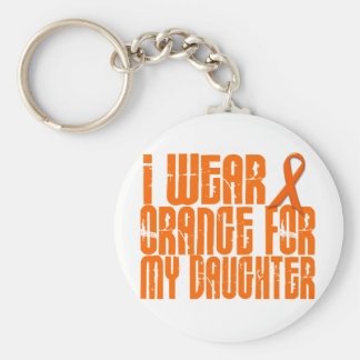 I Wear Orange For My Daughter 16 Basic Round Button Key Ring