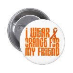 I Wear Orange For My Friend 16 Button