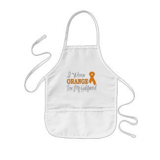I Wear Orange For My Girlfriend (Orange Ribbon) Apron