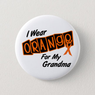 I Wear Orange For My GRANDMA 8 6 Cm Round Badge