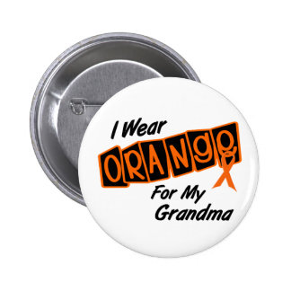 I Wear Orange For My GRANDMA 8 6 Cm Round Badge