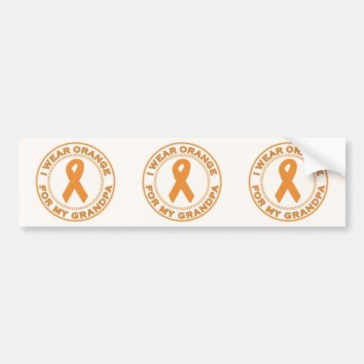 I Wear Orange For My Grandpa Bumper Stickers