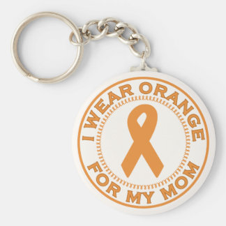 I Wear Orange For My Mom Basic Round Button Key Ring