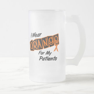 I Wear Orange For My PATIENTS 8 Frosted Glass Mug