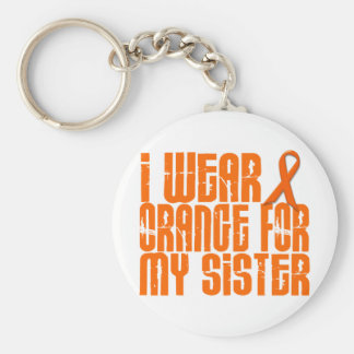 I Wear Orange For My Sister 16 Keychain
